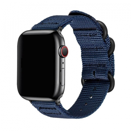 Curea Apple Watch sport nylon albastra 38/40mm [0]