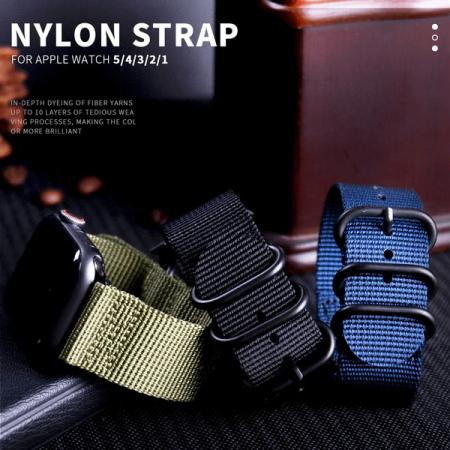 Curea Apple Watch nylon sport albastra 42/44mm [3]