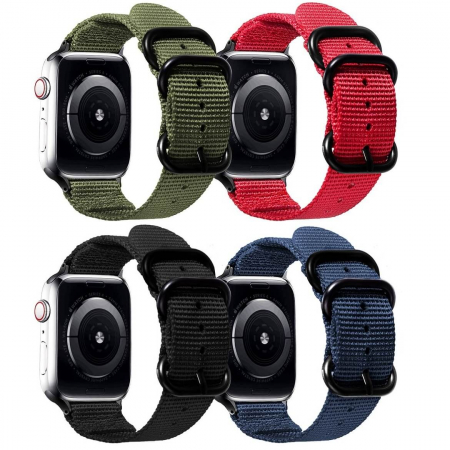 Curea Apple Watch nylon sport albastra 42/44mm [8]