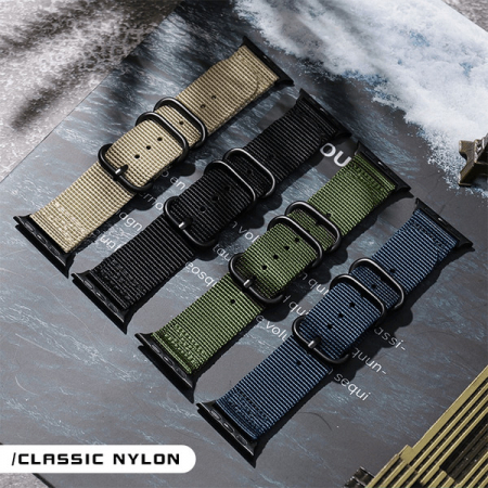 Curea Apple Watch sport nylon verde army 38mm 40mm [5]