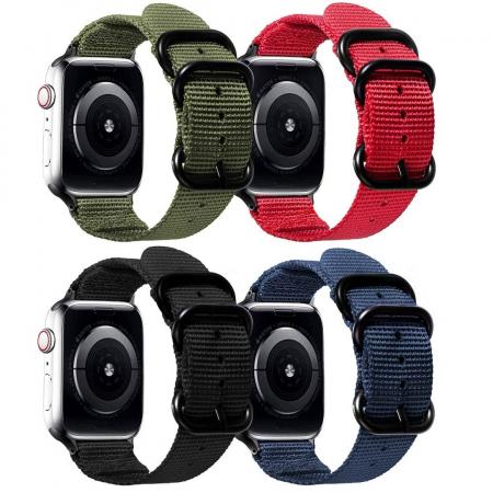 Curea Apple Watch sport nylon verde army 38mm 40mm [9]
