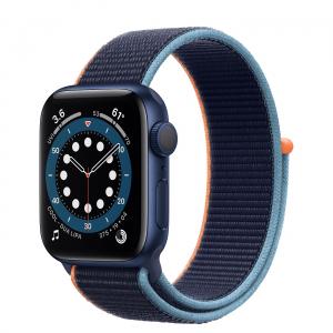 Curea Apple Watch Nylon Albastra Sport Loop Dark Navy Blue 42/44mm [3]