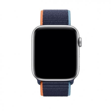 Curea Apple Watch Nylon Albastra Sport Loop Dark Navy Blue 42/44mm [2]