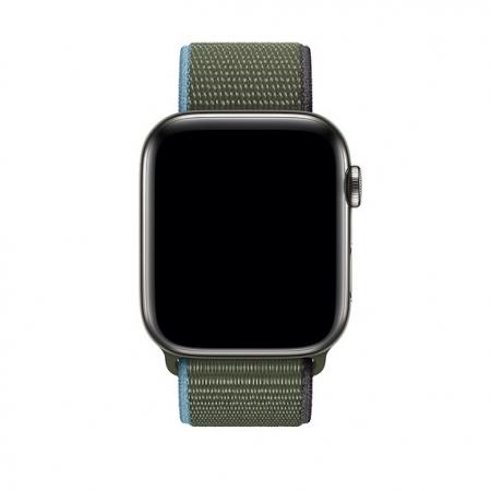 Curea Apple Watch Nylon Verde Sport Loop Inverness Green 42/44mm [2]