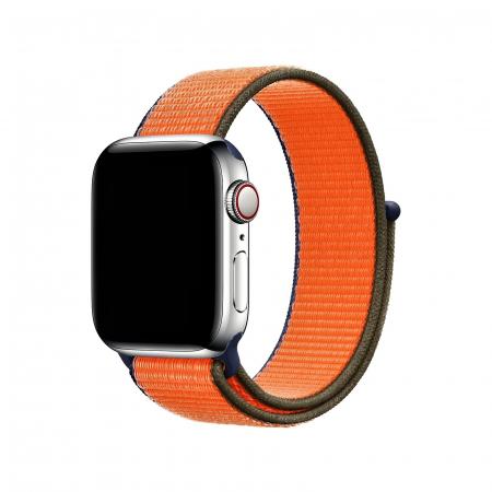 Curea Apple Watch Nylon Sport Loop Portocalie 38/40mm [2]