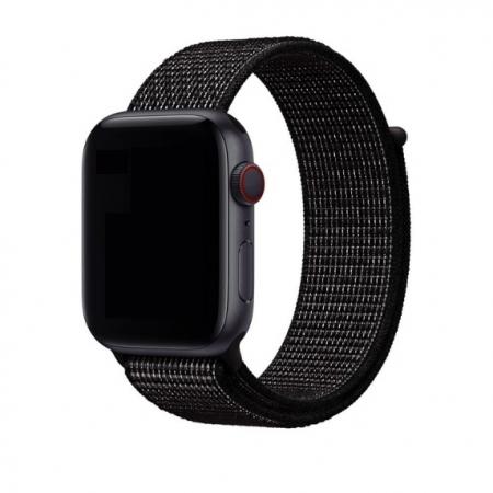 Curea Apple Watch Nylon Sport Loop Neagra 42/44mm [1]