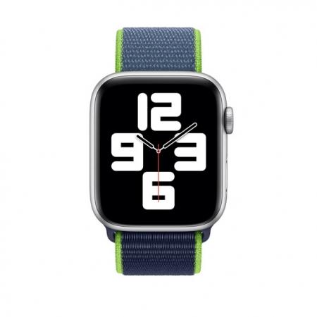 Curea Apple Watch Sport Loop Albastru-Neon 42/44mm [2]