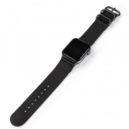 Curea Apple Watch nylon sport neagra 42/44mm [2]