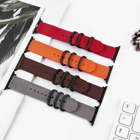 Curea Apple Watch nylon sport portocalie 42/44mm [4]