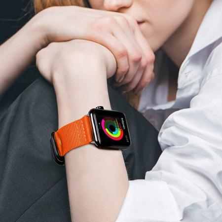 Curea Apple Watch nylon sport portocalie 42/44mm [1]