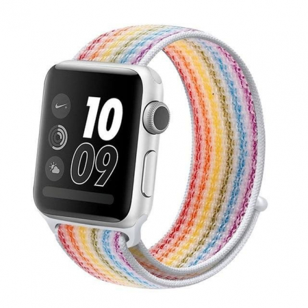 Curea Apple Watch Sport Rainbow, Curcubeu, Multicolora 38/40/41mm [2]
