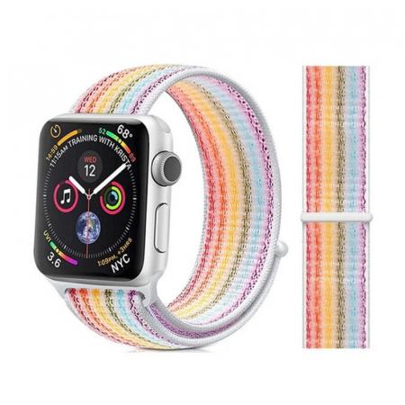 Curea Sport din nylon pentru Apple Watch compatibila cu seria 7 45mm, seria 6 44mm, seria SE 44mm, seria 5 44mm, seria 4 44mm, seria 3 42mm, seria 2 42mm si seria 1 42mm [4]