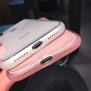 Husa iPhone X/XS transparenta roz [4]
