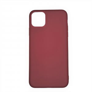 Husa iPhone 11 silicon, Red Wine