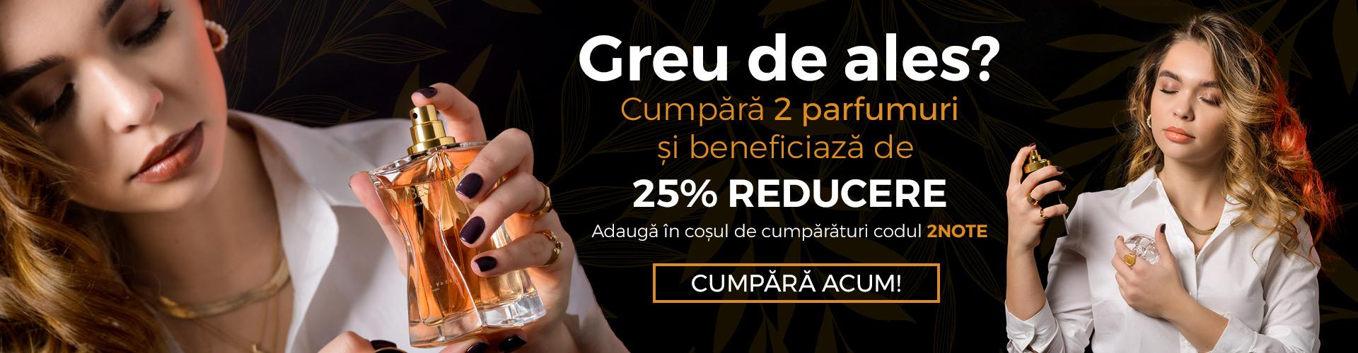 25% reducere la cumpararea a doua parfumuri