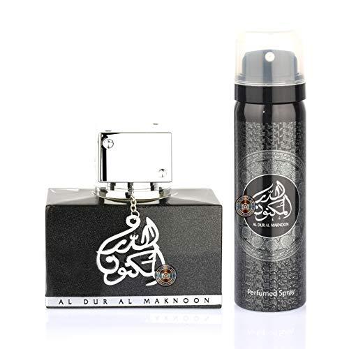 Parfum arabesc Al Dur Al Maknoon Sillver, apa de parfum 100 ml + deodorant 50 ml [0]