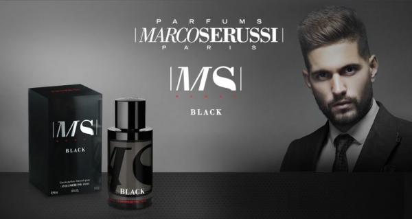 Marco Serussi Black, apa de parfum 90 ml, barbati [2]