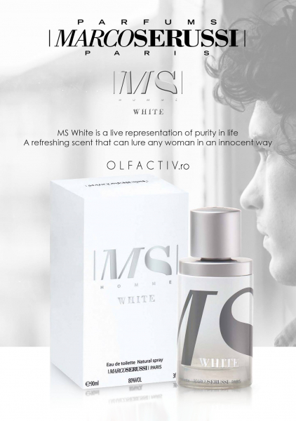 Marco Serussi White, apa de toaleta 90 ml, barbati 5