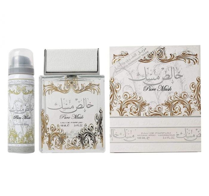 Set Pure Musk apa de parfum 100 ml si deodorant 50ml, unisex [0]