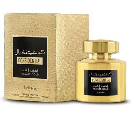 Parfum arabesc Confidential Private Gold, apa de parfum 100 ml, femei [1]