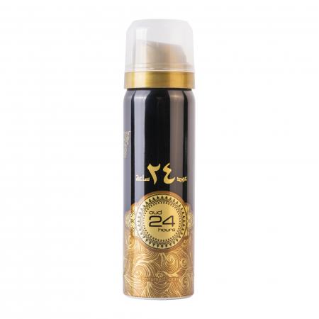 Set Ard Al Zaafaran Oud 24 Hours, apa de parfum 100ml si deodorant spray 50ml, unisex [3]