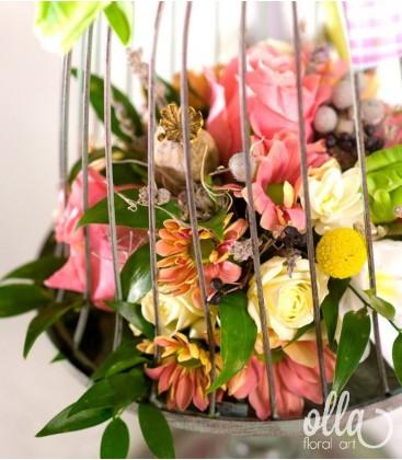 Aripi Colorate, aranjament floral corporate 2