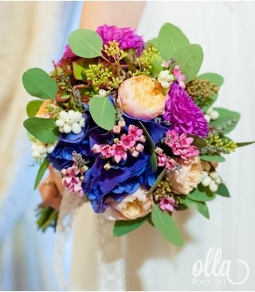 Armonie Naturala, buchet de mireasa din mix de flori 3