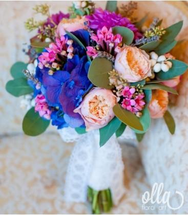 Armonie Naturala, buchet de mireasa din mix de flori 2