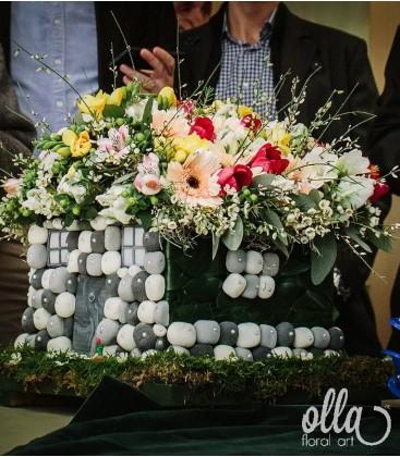 Casa de Piatra, aranjament floral de nunta 0