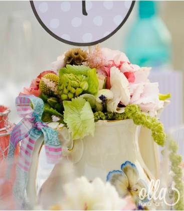 Ceremonie Parfumata, aranjament de masa pentru nunta 0