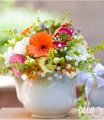 Cescuta Captivanta, aranjament de masa pentru nunta 1