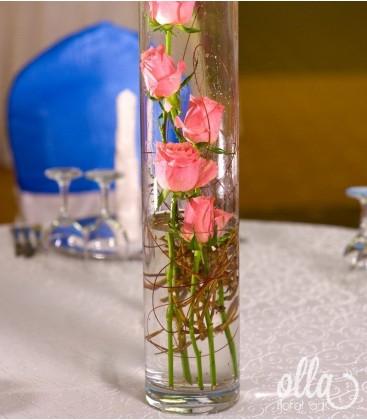 Coloana Inflorita, aranjament de masa pentru nunta 0