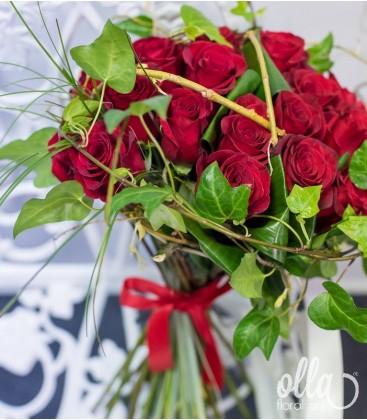 Contele Sarmant, buchet de trandafiri premium 0