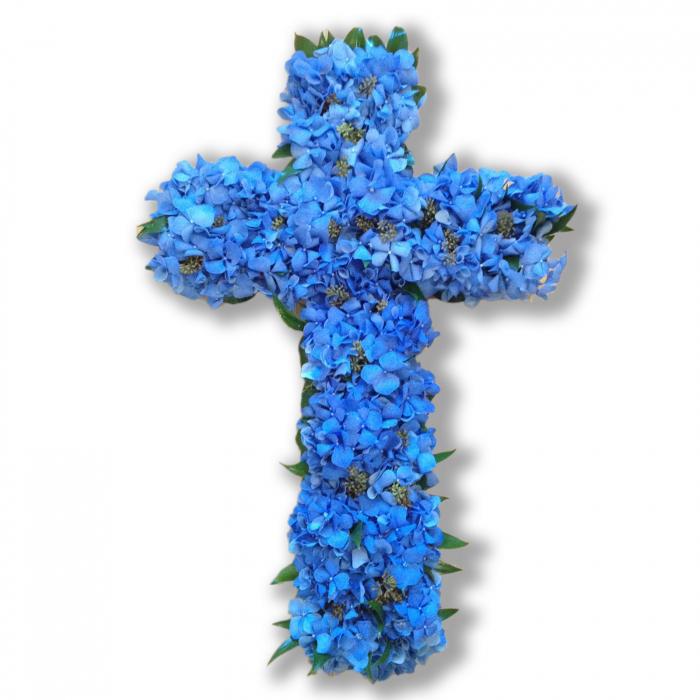 coroana-funerara-olla-in-forma-de-cruce-53-cm-cu-hortensia-albastra [0]