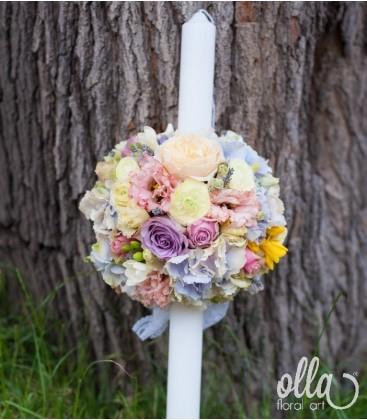 Culoarea Iubirii, lumanari de nunta in nuante pastelate 1
