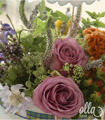 Curcubeul Parfumat, aranjament masa botez 1