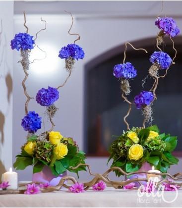 Dansul Culorilor, aranjament masa botez prezidiu 0