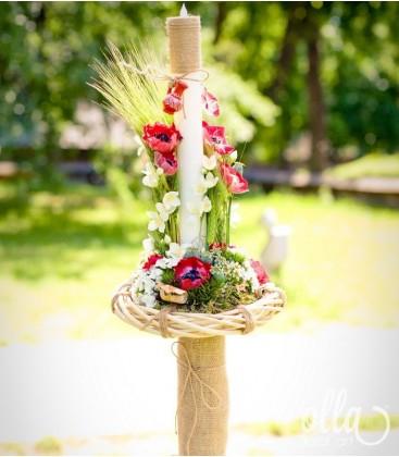Iubire de-o Viata, lumanari de nunta unicat cu anemone 2