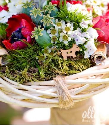 Iubire de-o Viata, lumanari de nunta unicat cu anemone 0