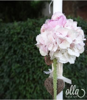 Iubire Pura, lumanari de nunta din hortensii si bujori 0