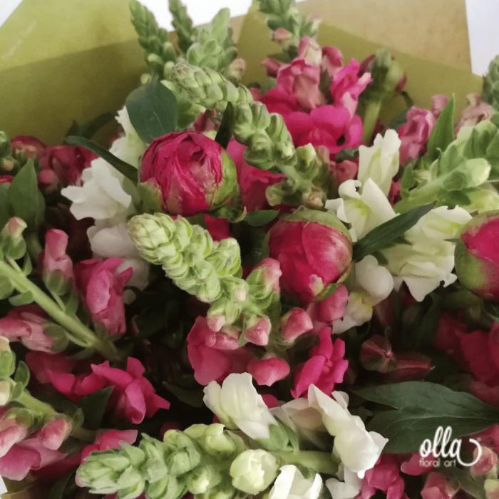 Parfum de Primavara, buchet de flori Olla, din Bujori Corai si Gura Leului [2]