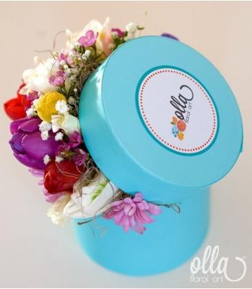 PR 67 Propunere Parfumata, cutie cu flori decorata manual 1