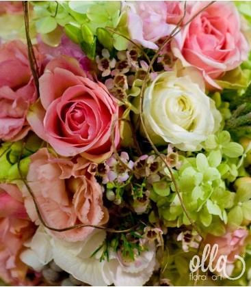 Printesa  Verii, lumanari de nunta din hortensia si trandafiri 1