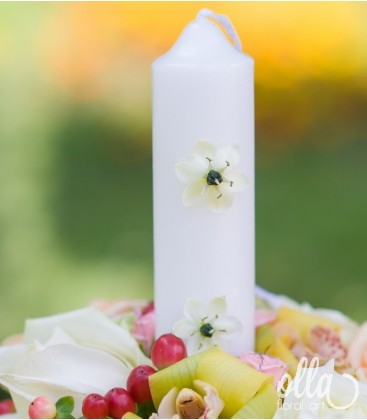 Regina Eleganta, lumanari de nunta din trandafiri si orhidee 1
