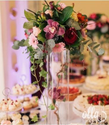 Suflet de Flori, aranjament de masa pentru nunta 0