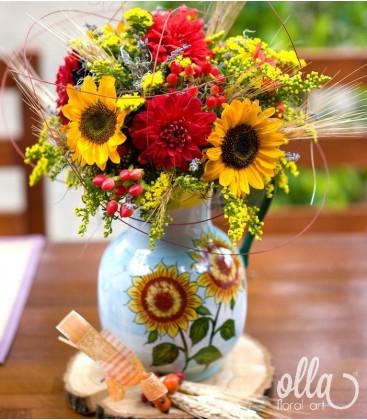Tablou de Fericire, aranjament de masa pentru nunta 1