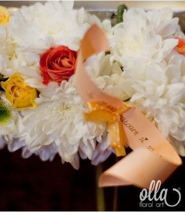 Veste Infloritoare, decor floral pentru cristelnita 1