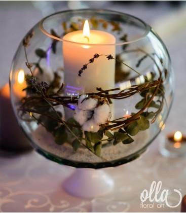 Veste Luminata, aranjament masa nunta [0]