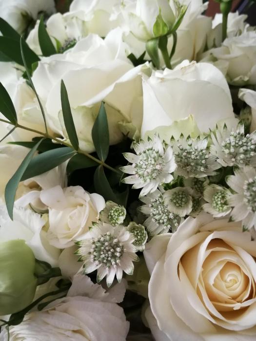Rau de Flori, buchet de mireasa curgator alb [3]
