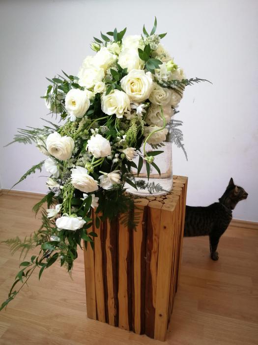 Rau de Flori, buchet de mireasa curgator alb [1]